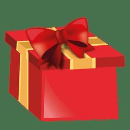 Red 3d caja de regalo de navidad