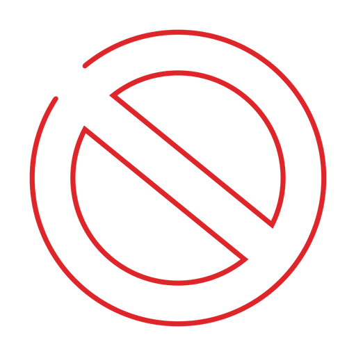 Red ban line icon.svg