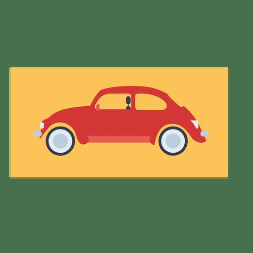 Escarabajo rojo, coche de la vendimia Transparent PNG