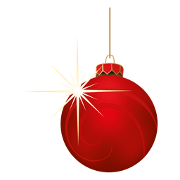 Red blinking christmas bauble