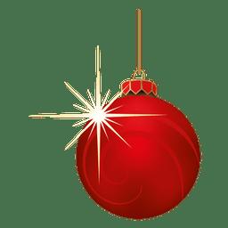 Vermelho piscando bauble Natal