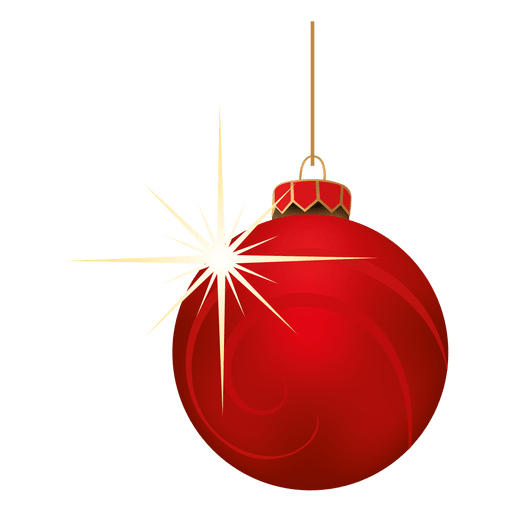 Red blinking christmas bauble Transparent PNG