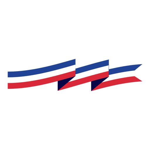 Red blue stripe origami ribbon - Transparent PNG & SVG ...Red And Blue Ribbon Logo