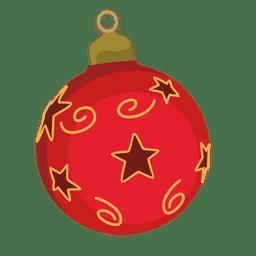 Red christmas bauble cartoon