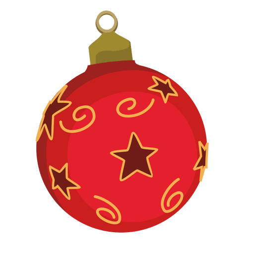 Red Christmas Bauble Cartoon