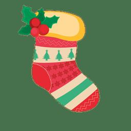 calcetín de la decoración roja de la Navidad