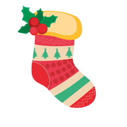 Calcetín de navidad rojo decoracion