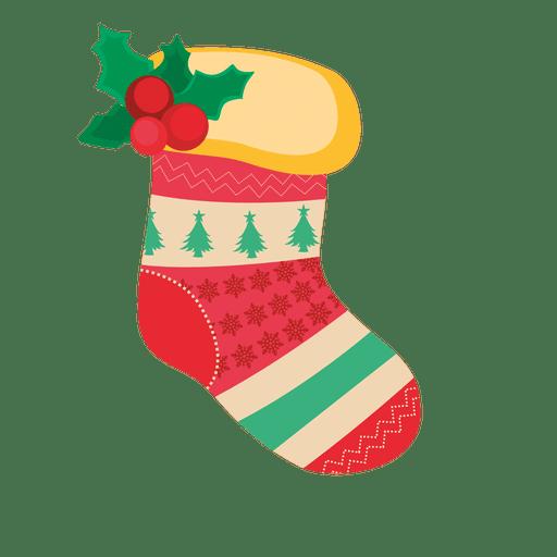 Decoración calcetín navideño rojo
