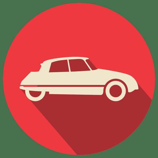 Red circle retro car Transparent PNG