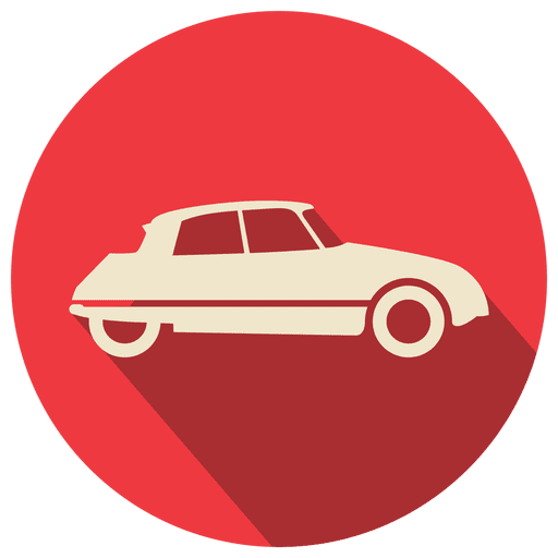Red circle retro car