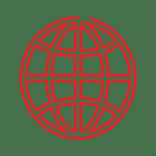 Red globe line icon.svg