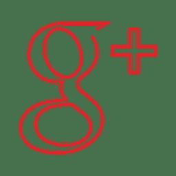 googleplus línea roja icon.svg
