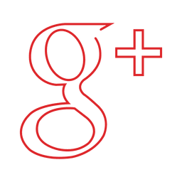 Red googleplus line icon.svg