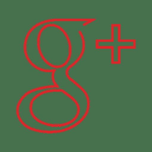 Red googleplus line icon.svg Transparent PNG
