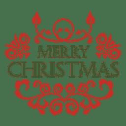 Decoración de la etiqueta de Navidad verde rojo
