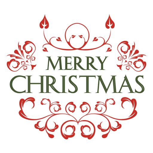 Red green christmas label decoration Transparent PNG