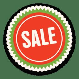 Etiqueta de venta verde roja