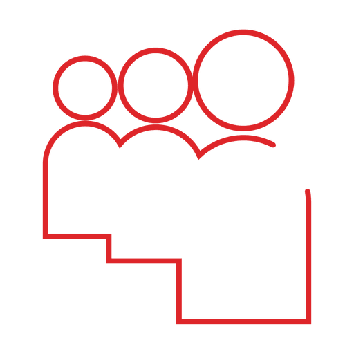 Red group people icon.svg