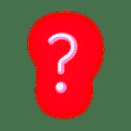 Interrogativa de tipografía de neón rojo