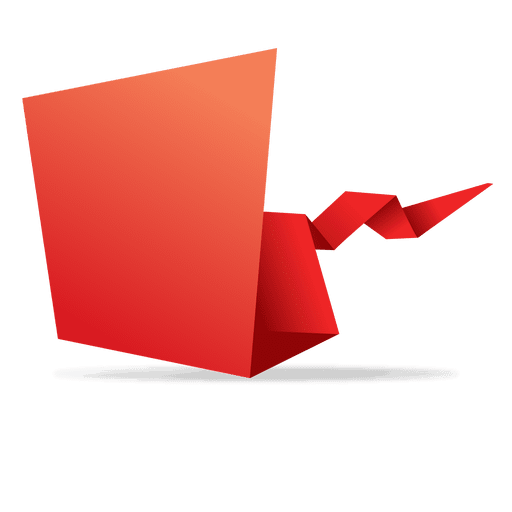 Red origami paper banner Transparent PNG