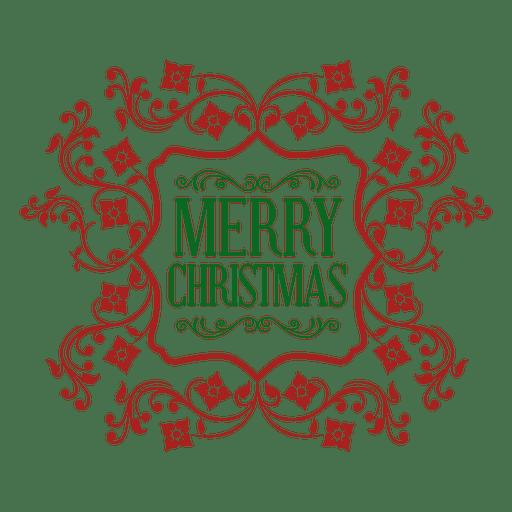 Emblema de Natal verde ornamentado vermelho Transparent PNG