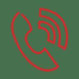 Linha de anel de telefone vermelho icon.svg