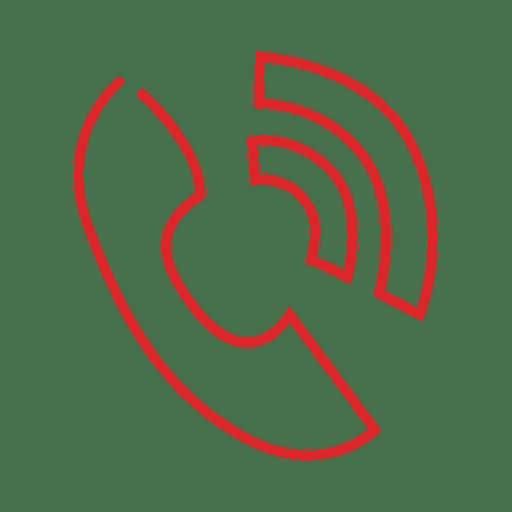 Teléfono rojo línea de línea icon svg - Descargar PNG/SVG transparente