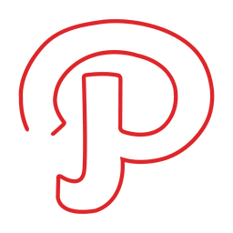 Red pinterest line icon.svg