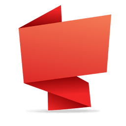 Red rectangular origami banner