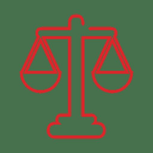 Línea de juez de escala roja icon.svg