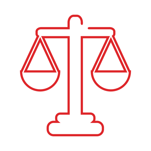 Red scale judge line icon.svg