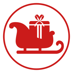 Red sleigh circle icon