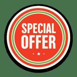 Distintivo de oferta especial vermelho