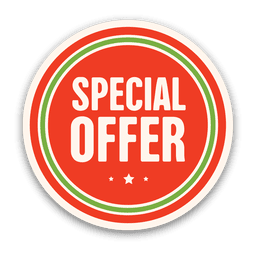 Red special offer badge