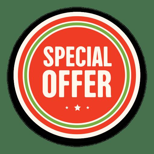 Red special offer badge Transparent PNG