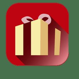 Red square 3d giftbox icon