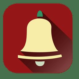 campana de navidad cuadrado rojo