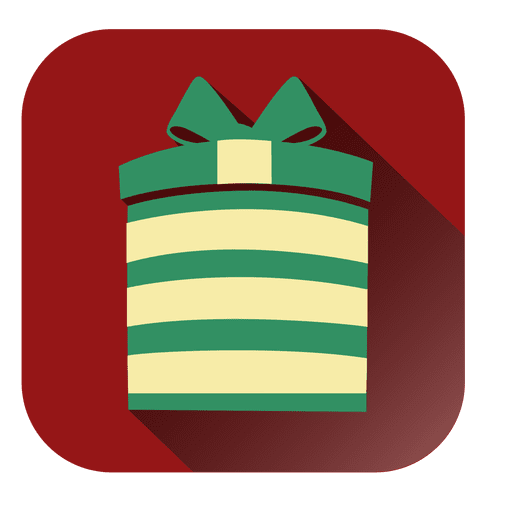 Red square giftbox icon Transparent PNG