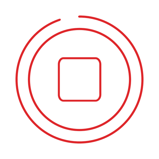 Red stop line icon svg - Transparent PNG & SVG vector