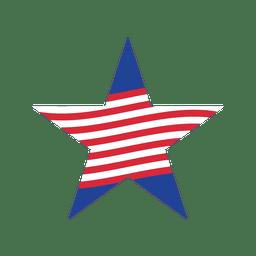 listra vermelha da estrela dos EUA