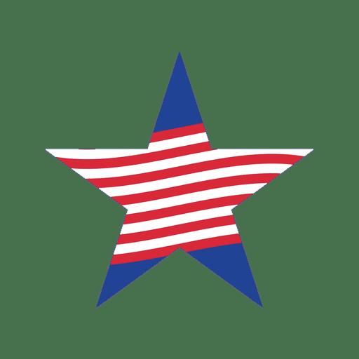 Red stripe usa star