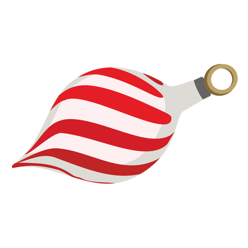 Red Stripy Christmas Ball  Transparent PNG