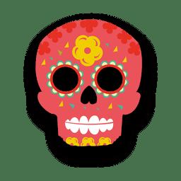 Decoração do crânio do açúcar vermelho
