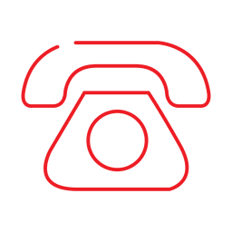 Red telephone line icon2.svg