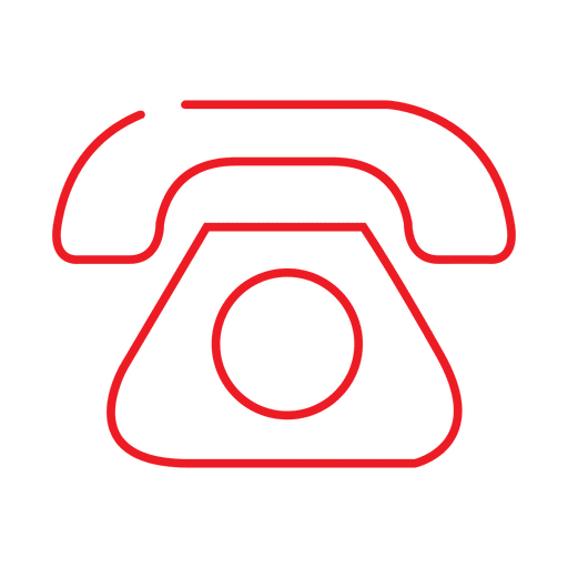 Red telephone line icon2.svg Transparent PNG