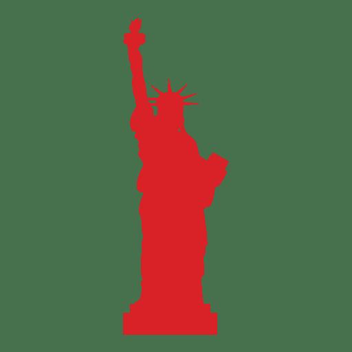 Estatua de la libertad de Estados Unidos rojo