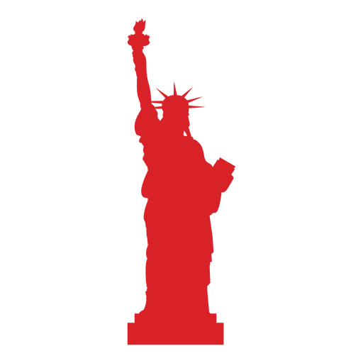 Red usa statue of liberty Transparent PNG