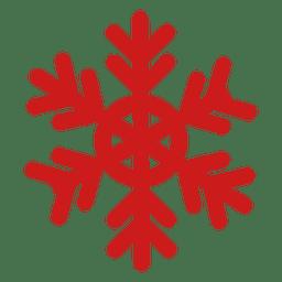 Copo de nieve rojo de Navidad