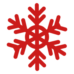 Rote Weihnachtsschneeflocke