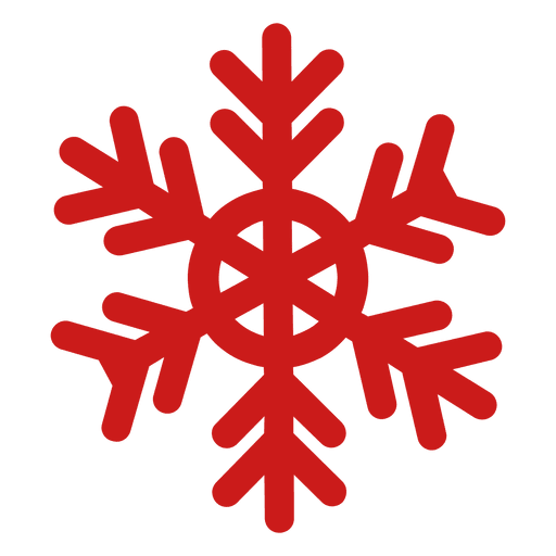 Red xmas snowflake Transparent PNG